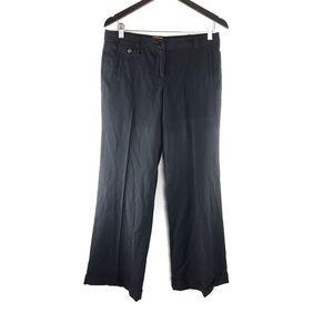 Tory Burch Wool Blend Wide Leg Trouser Pants